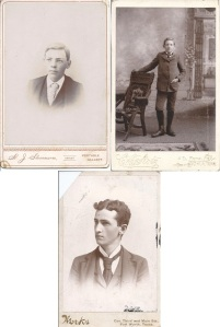 Penelope & William Jasper would have four sons: three of whom are pictured here: Buelle Everette Montrief (left) Jay Oldham Montrief age 10 (right) & Homer Montrief (bottom)