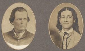 Probably Thomas Thaddeus Montrief with wife Eunice Gilbert or John Fletcher Montrief with wife Eliza Kelly.